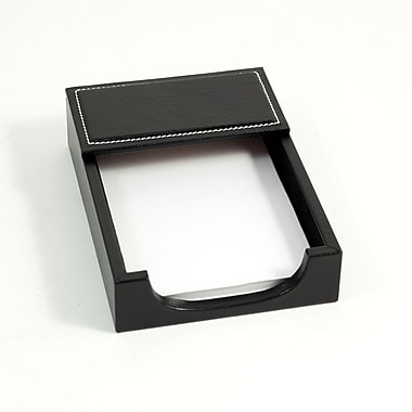 Bey-Berk Leather Memo  Holder, 4in.(L) x 6in.(W), Black