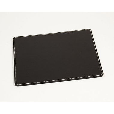 Bey-Berk Mouse Pad,  7 3/4in.(L) x 9 1/2in.(W), Black Leather