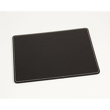 Bey-Berk Mouse Pad,  7 3/4in.(L) x 9 1/2in.(W), Black Leather