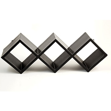 Bey-Berk CD Rack,  Black Leather