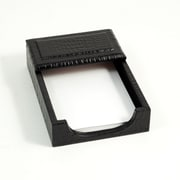 "Bey-Berk Debossed Croco Leather Memo Holder, 4""(L) x 6""(W), Black"