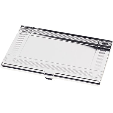 Bey-Berk Pocket Business  Card Case, Silver Plated