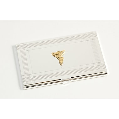 Bey-Berk Chiropractor Business  Card Case, Silver Plated