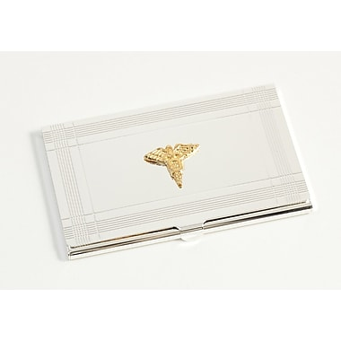 Bey-Berk Dental Business  Card Case, Silver Plated