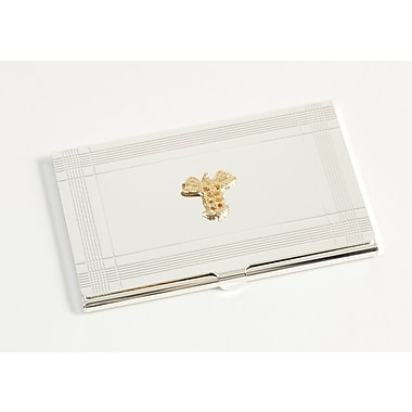 Bey-Berk Medical Business Card Case, Silver Plated