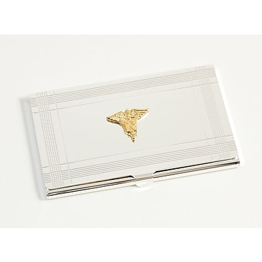 Bey-Berk Nursing Business  Card Case, Silver Plated