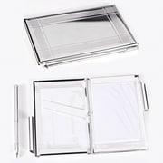 Bey-Berk Business Card  Holder/Note Holder, Silver Plated