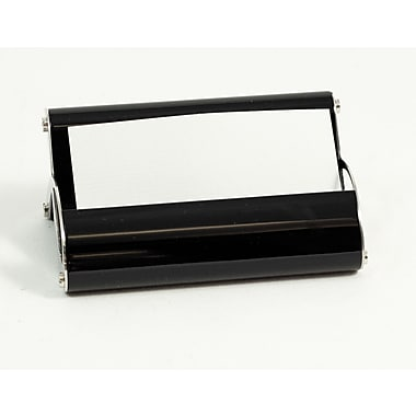 Bey-Berk Stainless Steel  Business Card Holder, Black Enamel