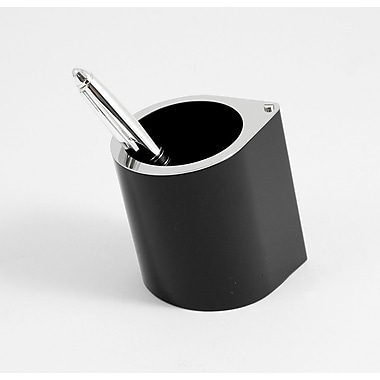 Bey-Berk Pen Cup  Black Enamel With Stainless Steel