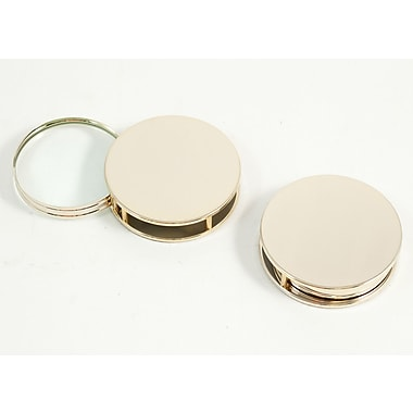Bey-Berk Paperweight and Fold Out Magnifier With 3X Magnification, Gold Plated