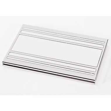 Bey-Berk Nickel Plated Business Card Case