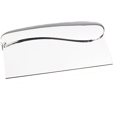 Bey-Berk Silver Plated  Business Card Case With Hinged Top Opening