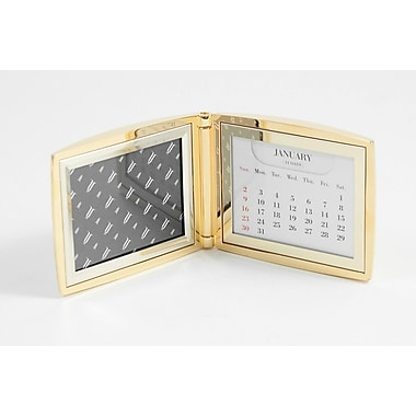 Bey-Berk Perpetual Calendar  With 2in.(H) x 3in.(W) Frame, Gold Plated
