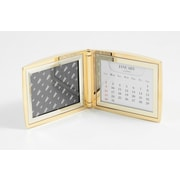 "Bey-Berk Perpetual Calendar  With 2""(H) x 3""(W) Frame, Gold Plated"