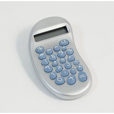 Bey-Berk Ergonomic Calculator With Satinized Pearl Finish