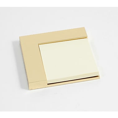 Bey-Berk Gold Plated  Sticky Post-It Note Holder