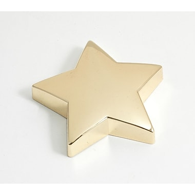 Bey-Berk Gold Plated Paperweight, Star