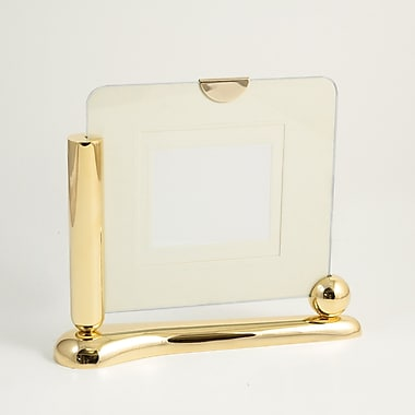 Bey-Berk Gold Plated  Two Sided Picture Frame