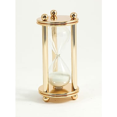 Bey-Berk 5 Minute  Gold Plated Sand Timer