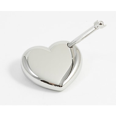 Bey-Berk Nickel Plated  Arrow Pen With Heart Stand