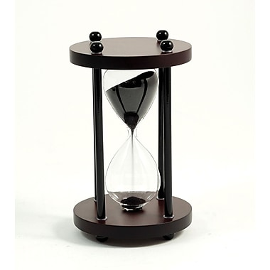 Bey-Berk 4 Minute  Walnut Wood Sand Timer