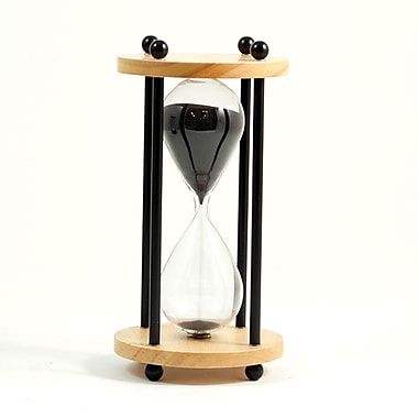 Bey-Berk 10 Minute  Natural Wood Sand Timer