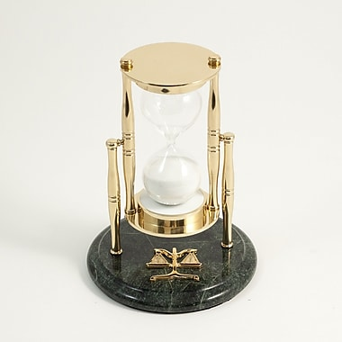 Bey-Berk 30 Minute Brass and Green Marble Sand Timer, Legal