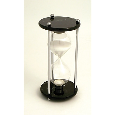 Bey-Berk 60 Minute  Chrome and Black Marble Base Sand Timer