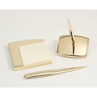 Bey-Berk Desk Set,  Gold Plated
