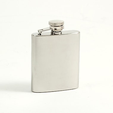 Bey-Berk Stainless Steel  Mirror Finish Flask With Captive Cap and Durable Rubber Seal, 3 oz.