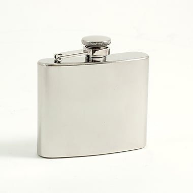 Bey-Berk Stainless Steel Mirror Finish Flask With Captive Cap and Durable Rubber Seal, 5 oz.