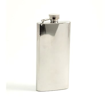 Bey-Berk Stainless Steel  Mirror Finish Boot Flask With Cap and Durable Rubber Seal, 5 41276 oz.