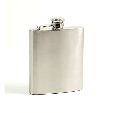 Bey-Berk Stainless Steel  Flask in Satin Finish With Cap and Rubber Seal, 7 oz.