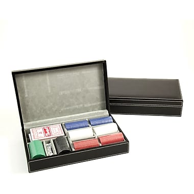 Bey-Berk Poker Set  With 160, 88 gram Clay Composite Chips With Two Decks of Playing Cards