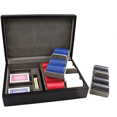 Bey-Berk Poker Set  With 320, 88 gram Clay Composite Chips With Two Decks of Playing Cards