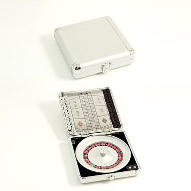 Bey-Berk Magnetic Roulette  Game Set, Stainless Steel Case