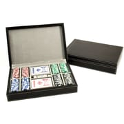 Bey-Berk G535 Poker Set With 200, 115 gram Clay Composite Chips With Two Decks of Playing Cards