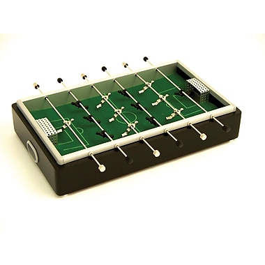 Bey-Berk Desktop Foosball  Game Set, Aluminum and Mahogany Wood