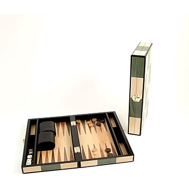 Bey-Berk Backgammon Set With Birch and Olive Wood Inlay