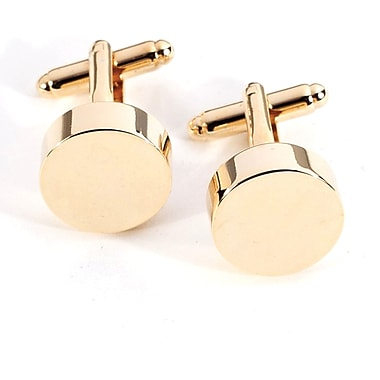 Bey-Berk Gold Plated  Cufflinks, Round