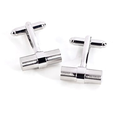 Bey-Berk Satin Finished  Bar Shaped Cufflinks