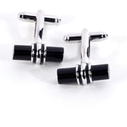 Bey-Berk Chrome Accents  Cufflinks, Bar