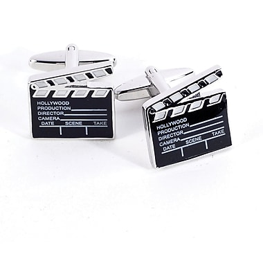 Bey-Berk Rhodium Plated Cufflinks, Hollywood Director