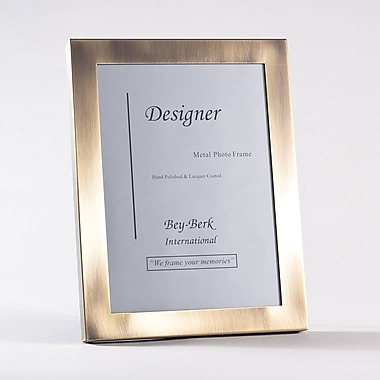 Bey-Berk Brushed Bronze Picture Frame, 8