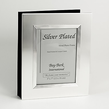 Bey-Berk Silver Plated  Photo Album, 5in. x 7in.