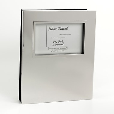 Bey-Berk Silver Plated  Photo Album, 3 1/2in. x 5in.