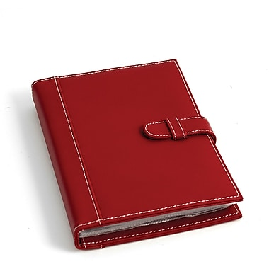 Bey-Berk Leather Photo  Album, 24 Pictures 4in. x 6in., Red