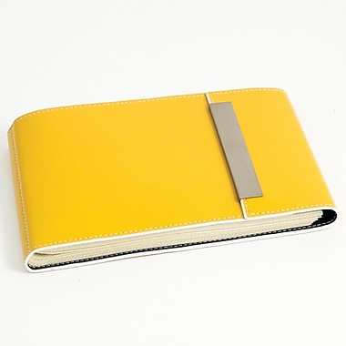 Bey-Berk Leather Photo  Album, 36 Pictures 4in. x 6in., Yellow