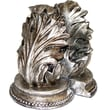 Bey-Berk Leaf Bookends,  Solid Brass, Antique Silver Finish
