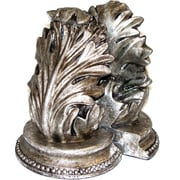 Bey-Berk Leaf Bookends, Bronze and Antique Silver Finish
